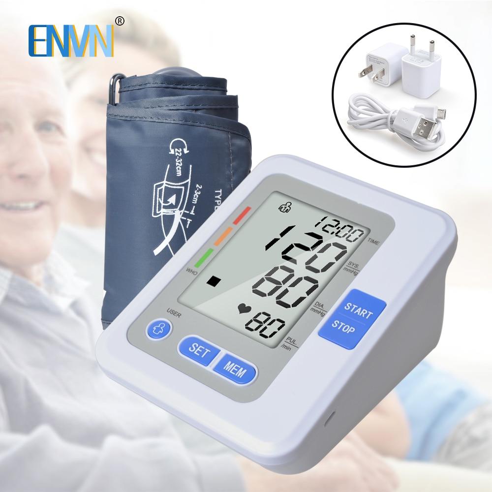 NEW Portable Blood pressure meter Digital Blood Pressure Monitor Upper Arm Tonometer Sphygmomanometer Tensiometro with VoiceNEW Portable Blood pressure meter Digital Blood Pressure Monitor Upper Arm Tonometer Sphygmomanometer Tensiometro with Voice
