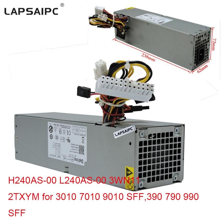 Lapsaipc 240W power supply H240AS-00 L240AS-00 3WN11 2TXYM for 3010 7010 9010 SFF,390 790 990 SFF PC computer power free ship 240w power supply for 790 990 3010 7010 sff 240w h240as 00 l240as 00 3wn11 2txym cv7d3