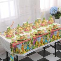51Pcs Party Decorate Tableware Sets Prince Princess Birthday Party Decoration Set Kids Boys Event Parties Supplies