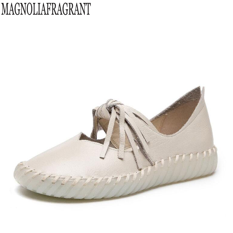 2018 Handmade eather Shoes Casual women shoes Fashion platform shoes Flats Moccasins design Comfortable tassel Casual Shoes k710 2017 new spring imported leather men s shoes white eather shoes breathable sneaker fashion men casual shoes