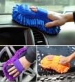 Ultrafine Fiber Chenille Anthozoan Car Wash Gloves Microfiber Car Motorcycle Washer Supplies Car Care Brushes for car and home