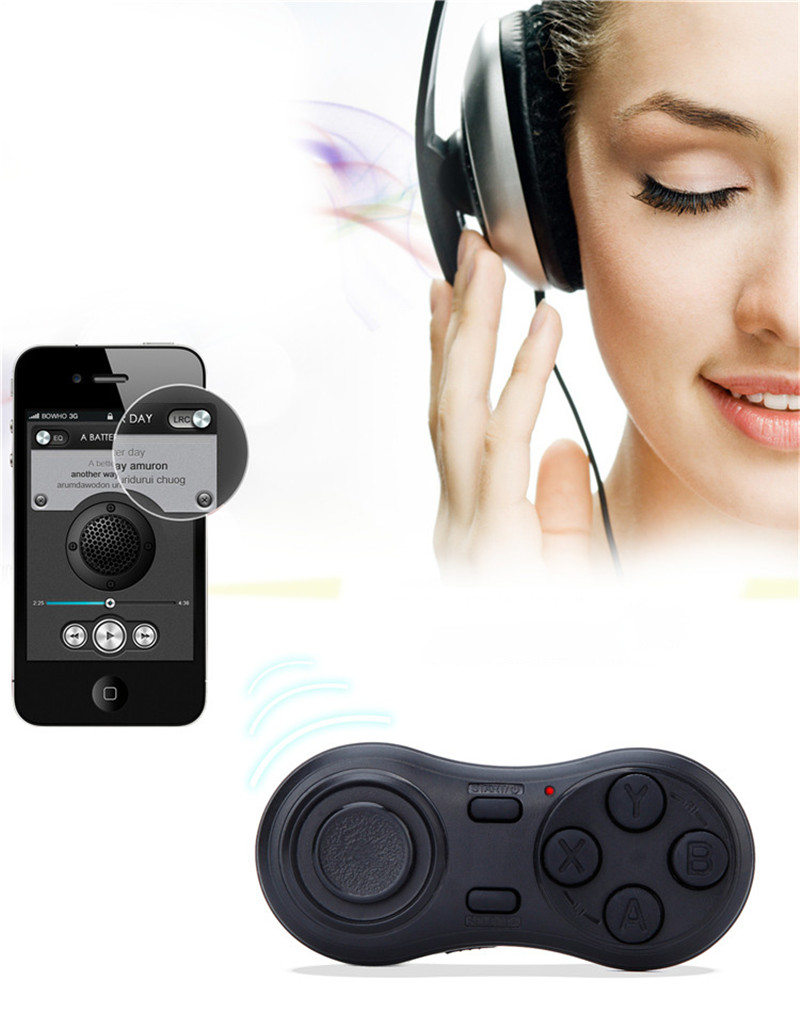 YOTEEN Bluetooth Gamepad iOS Android VR Game Controller Joystick Selfie Shutter Remote Control for Phone PC TV box Smart TV Game 6