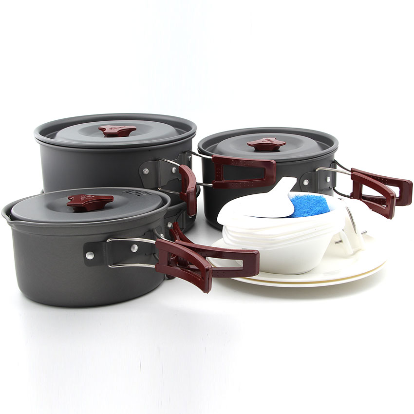 Fire Maple FMC-206 Hot Sale 4-5 Persons Camping Cooking Set Pot Camp Cookware Picnic Outdoor Cutlery Only 1270g fire maple fmc 20p
