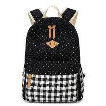 2017 мода пунктирной печати рюкзак корейский стиль рюкзак женщины 16 дюймов путешествия ноутбук рюкзак школьные сумки для подростков
