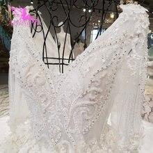AIJINGYU à manches longues robe de mariée fiançailles manches robes fournitures magasin avec manches Vintage robe en dentelle à vendre de mariage de luxe