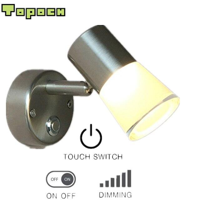 topoch caravan interieur verlichting nikkel afwerking touch dimmer aluminium pmma behuizing dunne base cree led