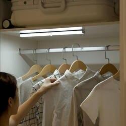 Беспроводной Светодиодная лампа в шкаф движения сенсор ночник с магнитной полосой CLH @ 8