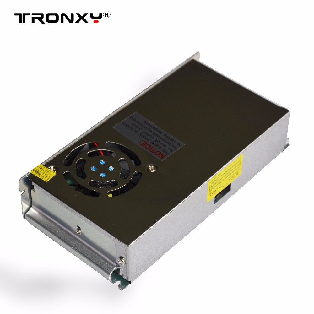 Tronxy 3D printer parts power supply 12V 20A prusa i3 parts impressora 3d 110V/220V switching power supply with cooling fan