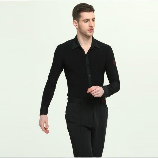 07bc97ed2 Long Sleeve Mens Latin Shirts Dance Top Ballroom Dancewear Latin Dance  Costumes Stage Clothing for Men Ballroom Clothes B-6965