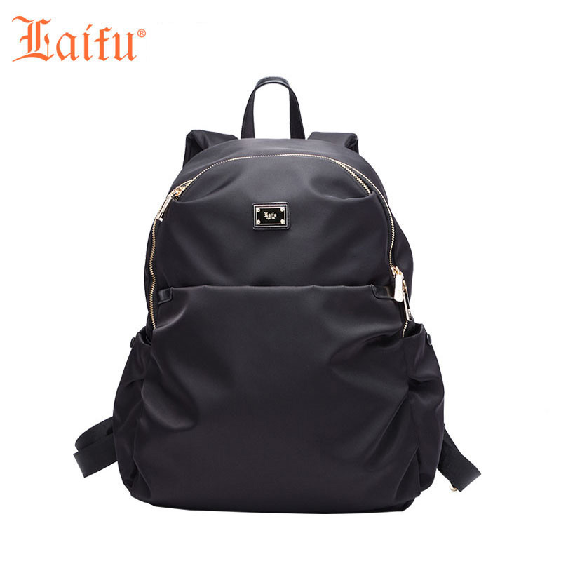 Laifu Laptop Backpack College Student School Women Daypack Travel Bag Nylon Waterproof Lightweight famous brand laifu design women lightweight nylon bag teenage girls school backpack preppy style shopping travel black coffee page 9 page 7 page 1