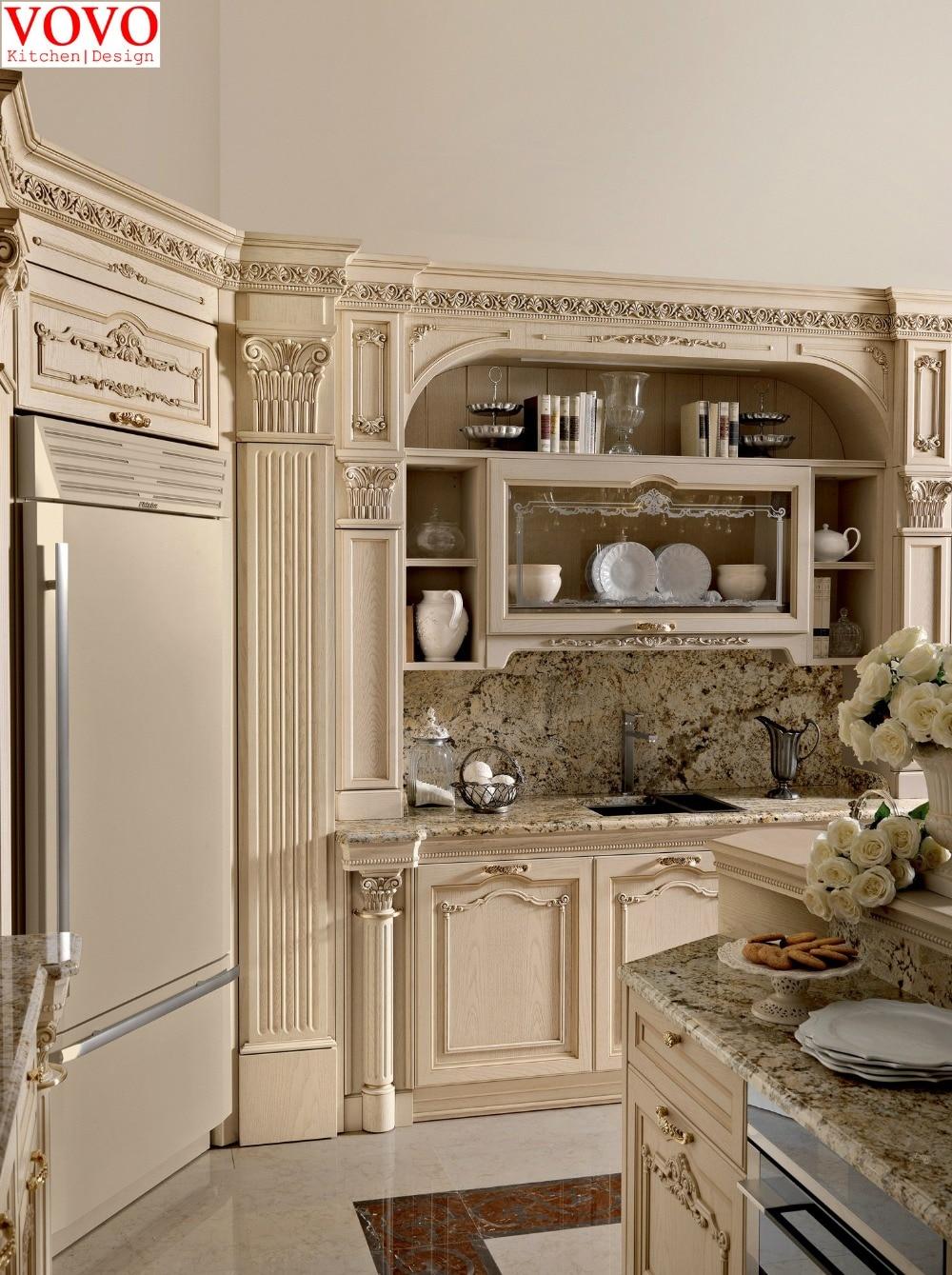 White Solid Ash Kitchen Cabinet