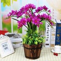 1pcs Artificial Plant bonsai Fake Plant Decor flower Green Plant Plastic Flower Potted For Home desktop Decoration Flower bonsai