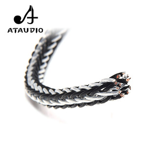 Image 2 - ATAUDIO Hifi Speaker Cable Hi end Hybrid OCC Silver Plated Diy Speaker Bulk Cable with 16 Strands