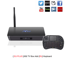 X92 TV Box Amlogic S912 Octa-core Android 6.0 2.4GHz/5.8GHz WiFi HDMI 2.0 with USB 2.0 AV LAN SD Card Slot 2G RAM 16G ROM