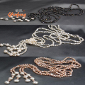 [Yinfeng] 2016 new fashion design 3 colors 120cm long necklaces natural pearl beads necklace for wedding jewelry