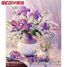 30x39 см точные напечатанные хрустальные бусины наборы для вышивания Натюрморт Цветы Вышивка бисером рукоделие вышивка бисером APT656