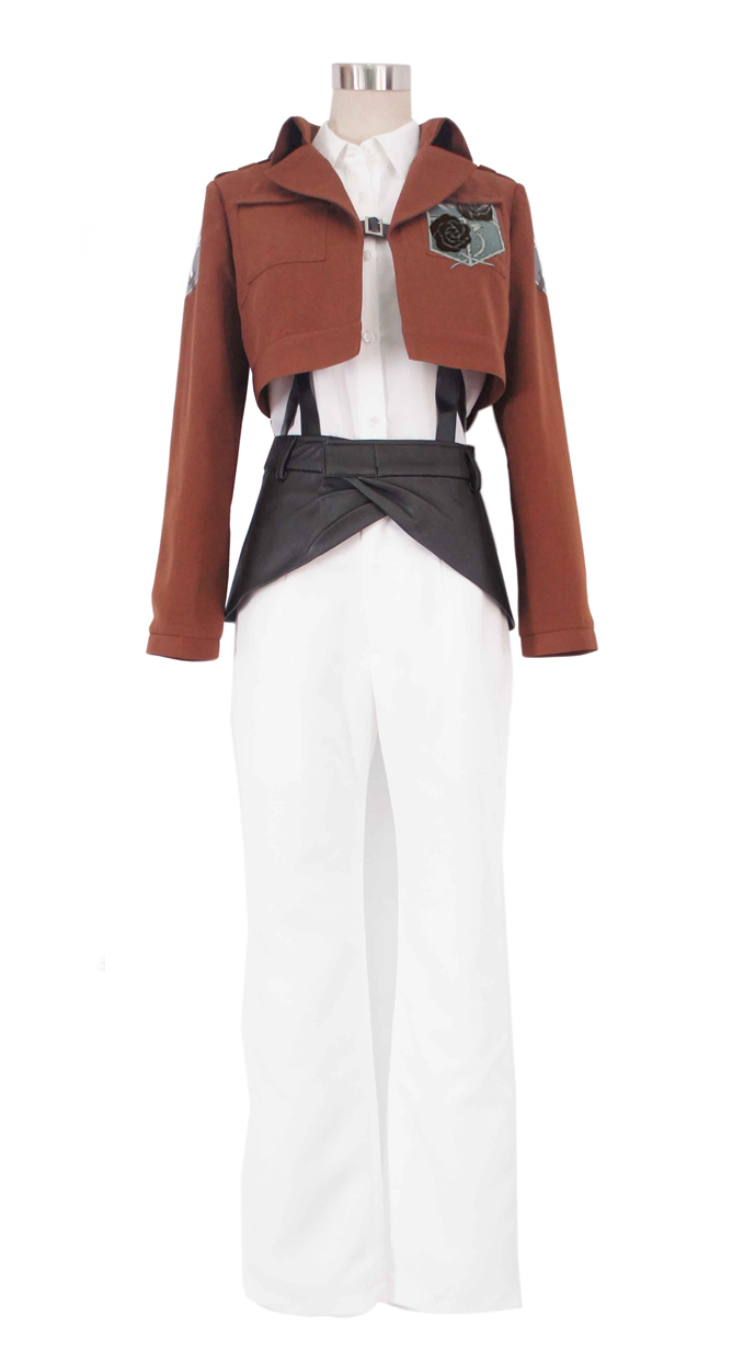 Free Shipping Attack on Titan Stationed Corps Rosa rugosa Uniform Anime Cosplay Costume