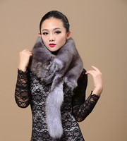Selling! The Whole Fox Fur Collar Fox Fur fox fur scarves Shawl true Factory Direct Free shipping