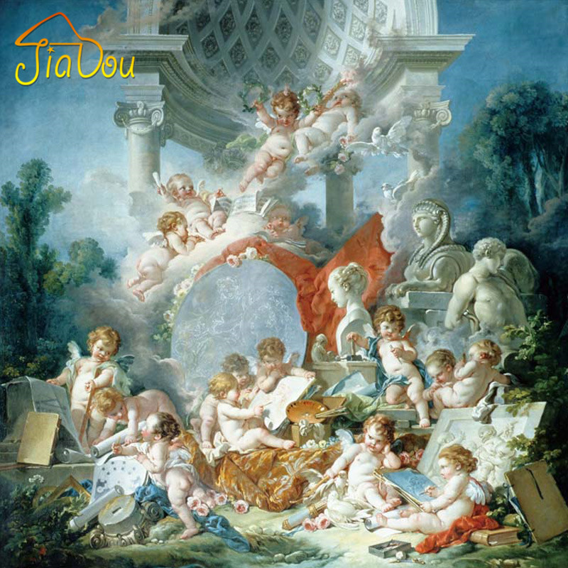 European-style Angel Mural Wallpaper 3D Oil Painting Effect Custom Wall Murals Living Room Sofa Backdrop Photo Wallpaper Roll custom baby wallpaper snow white and the seven dwarfs bedroom for the children s room mural backdrop stereoscopic 3d