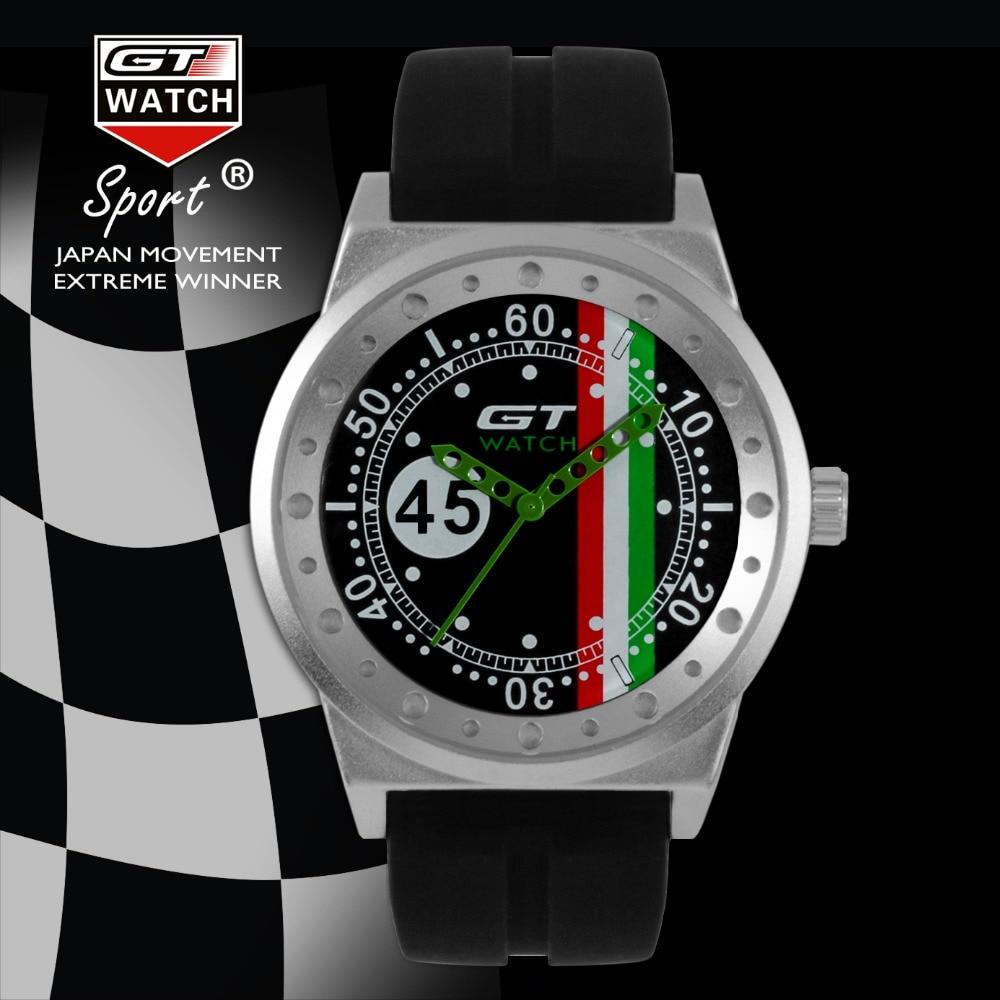 Luxury Brand GT WATCH No.45 Driver Car Racing Sport Men's ...
