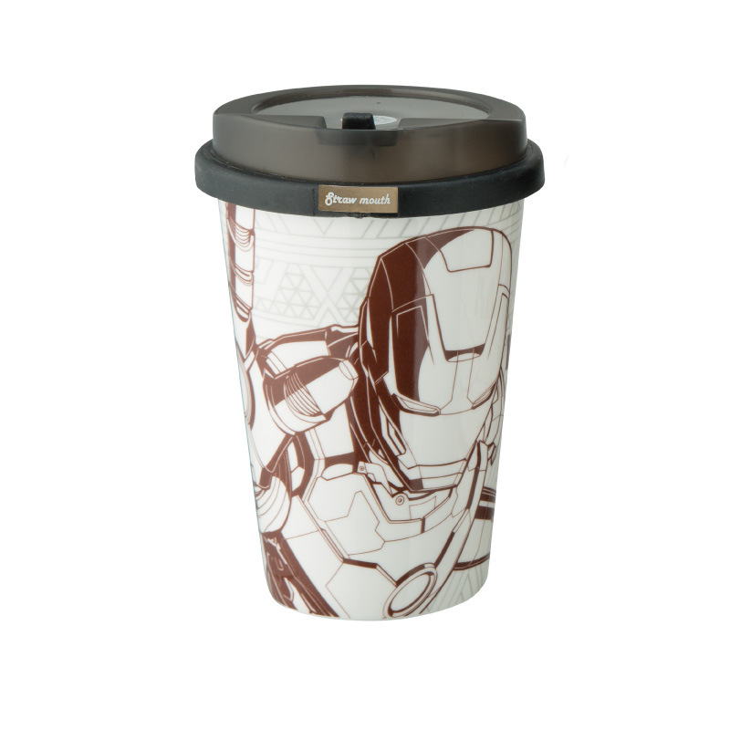 2017 new arrival marvel iron man coffee mug cool novelty cartoon water bottle christmas gift for