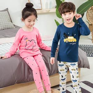 Boy Pyjamas Nightwear Clothing Baby-Girls Kids Winter Cotton Children's Autumn Indoor