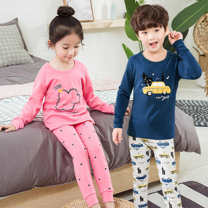 Outono inverno bebê meninas roupas pijamas conjuntos menino pijamas crianças homeswear algodão roupa interior das crianças pijamas terno