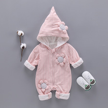 Spring Autumn Romper Warm Clothes 95%Cotton Flower Jumpsuit