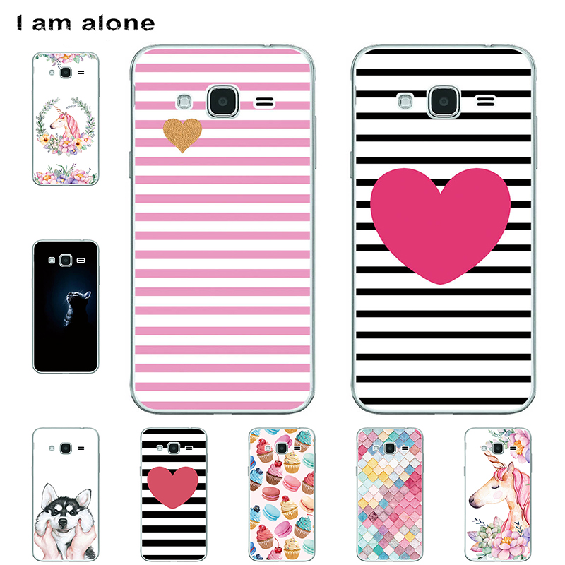 I am alone Phone <font><b>Cases</b></font> For <font><b>Samsung</b></font> <font><b>Galaxy</b></font> J2 <font><b>J200</b></font> J210 J2 Prime Hard Plastic Bags Mobile Cellphone Fashion Color Free Shipping image
