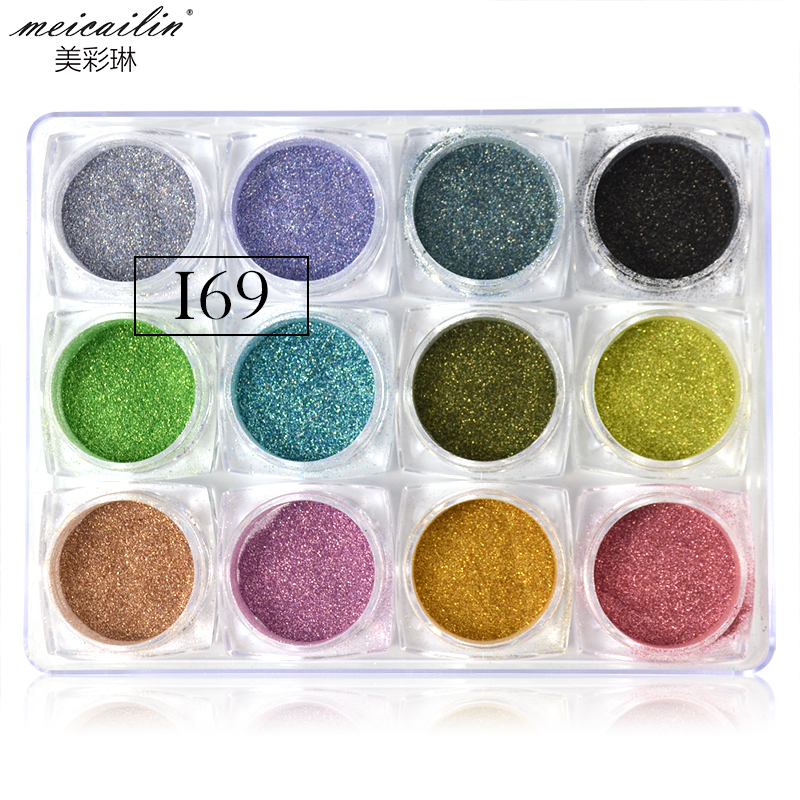 0 7g Holographic Laser Nail Glitters Holo Rainbow Dust Powder Nail Tip Chrome Dust Manicure Nailart Decorations Nail Supply in Nail Glitter from Beauty Health