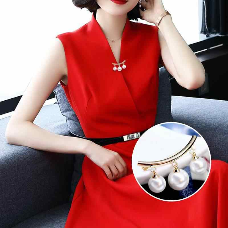1 PC קבוע רצועות אנטי להחליק פין קוריאני פשוט אופנה פרל סיכות נשים של אביזרי קרדיגן אנטי לובש סיכות אמייל פין