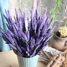 10 pcs Artificial European Lavender Beautiful PE Fake Flowers