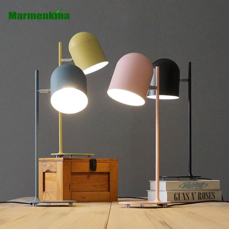 Creative living room minimalist personality Scandinavian modern Macaron study desk lamp study lamp AC110V/220V/230V vemma round wall modern minimalist scandinavian art lighting corridor bedroom living room study lamp