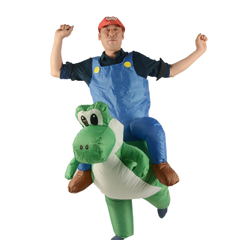 Inflatable Mario Costumes for Adult Ride on Cosplay Suits Animal Fancy Dress Halloween Carnival Party Airblown Costume Outfits christmas costumes children animal cosplay rompers inflatable funny chick fancy kids baby 7 24m halloween costume disfraces
