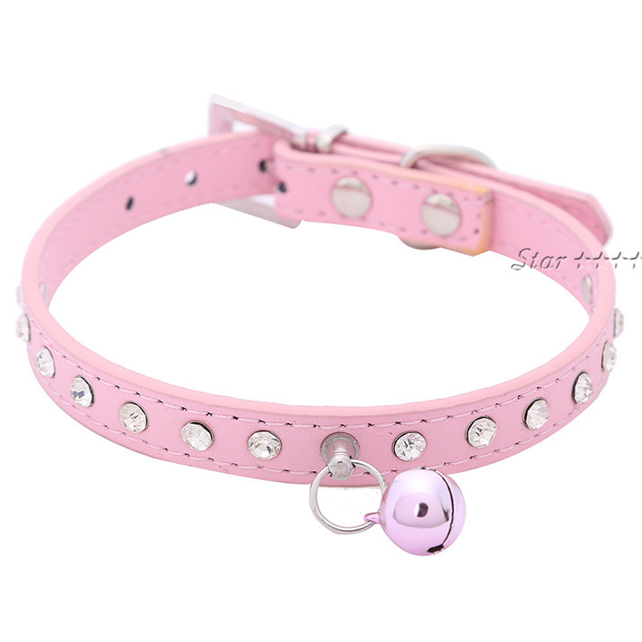 Adjustable Small Pet Dog Cat Bell Collar Pet Strap with Small Bell Size(XS S ) 4 Colors Free Shipping XQ044
