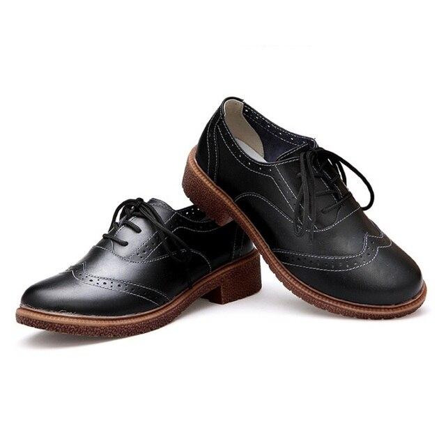 2016 Наивность Новая Мода Ретро Британский Стиль Обувь Обувь С Толстым Оксфорд Sole S6095 груза падения