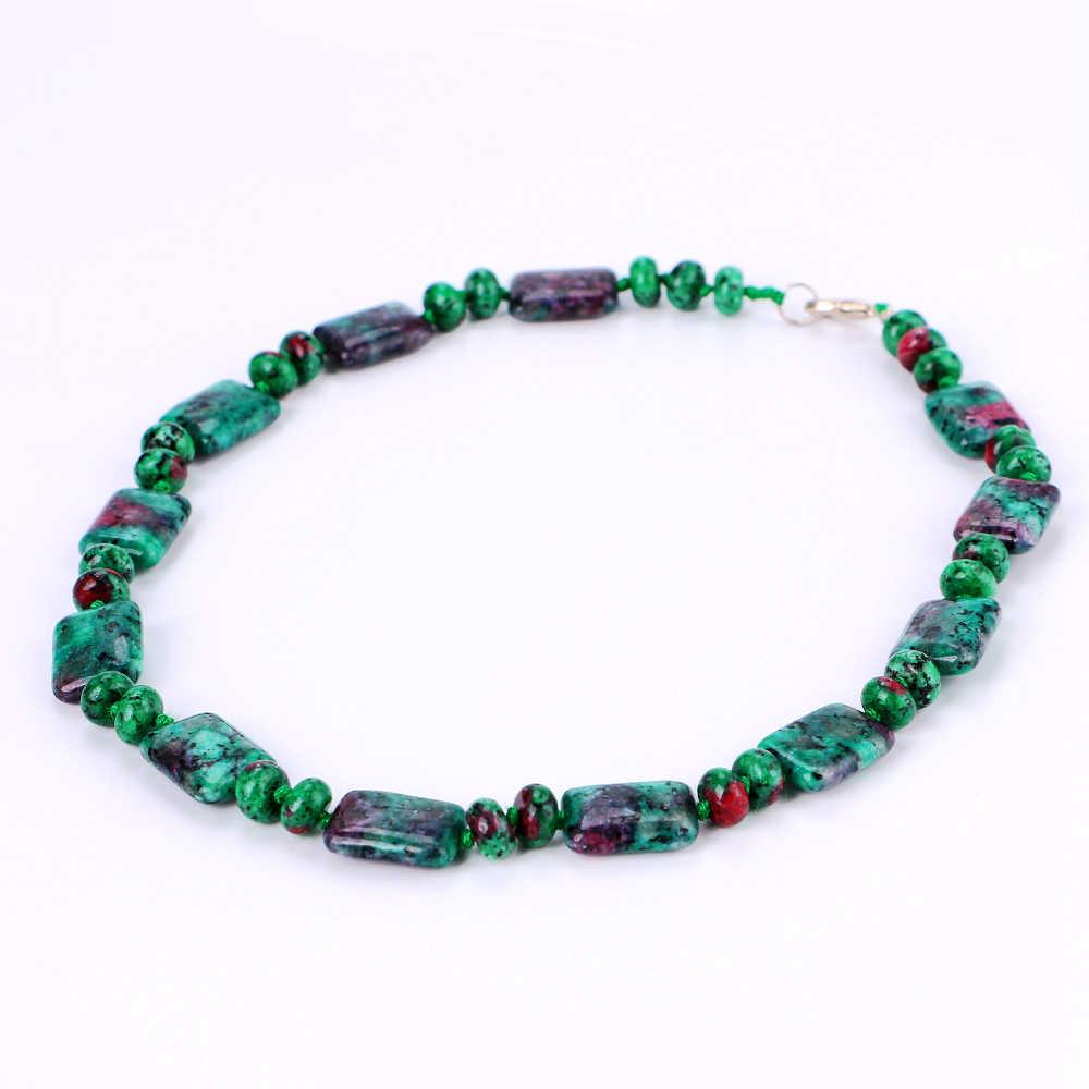 Yumten ожерелье из эпидота мощность квадратный натуральный камень кристалл женщин ювелирные изделия мужчин драгоценный камень мрамор Joyeria золотая цепочка ожерелье чокер лиса
