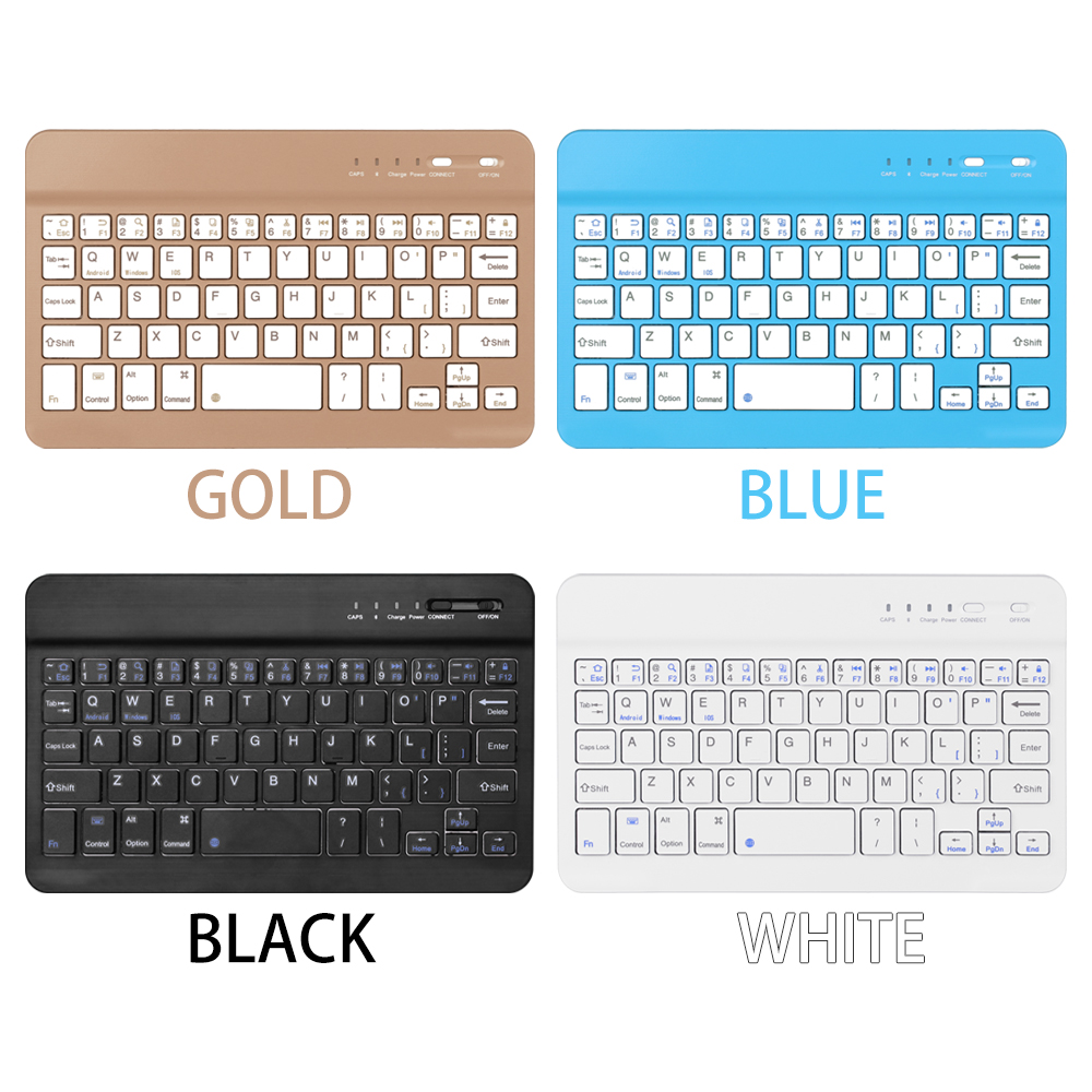 Image 5 - 7.9inch Ultra Slim Wireless Bluetooth Keyboard 59 keys Rechargeable High Quality Portable Keypad For iPad iOS Android Windows PC-in Keyboards from Computer & Office