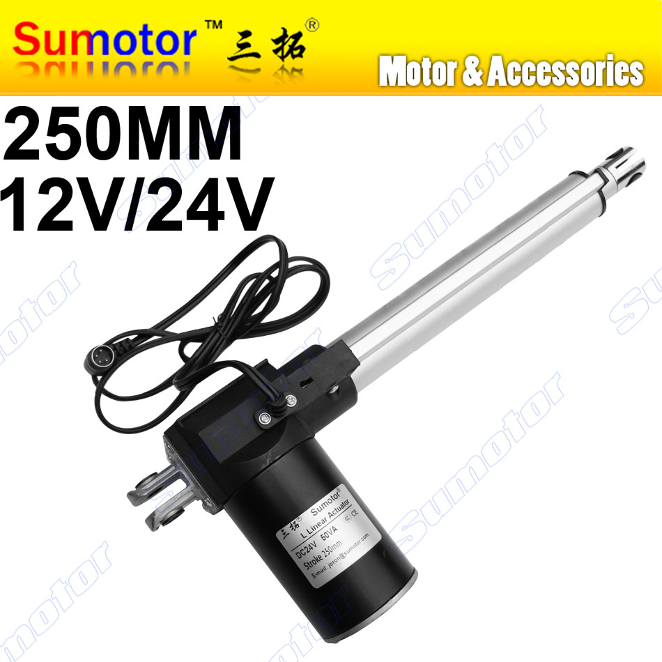L250 10inch 250mm stroke Electric linear actuator DC 12V 24V 5 10 30mm/s Heavy Duty Pusher Progressive 600 300 100Kg furnitureL250 10inch 250mm stroke Electric linear actuator DC 12V 24V 5 10 30mm/s Heavy Duty Pusher Progressive 600 300 100Kg furniture