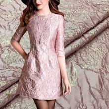 HLQON High quality yarn dyed occident style jacquard brocade fabric used for tissue women dress clothing patchwork