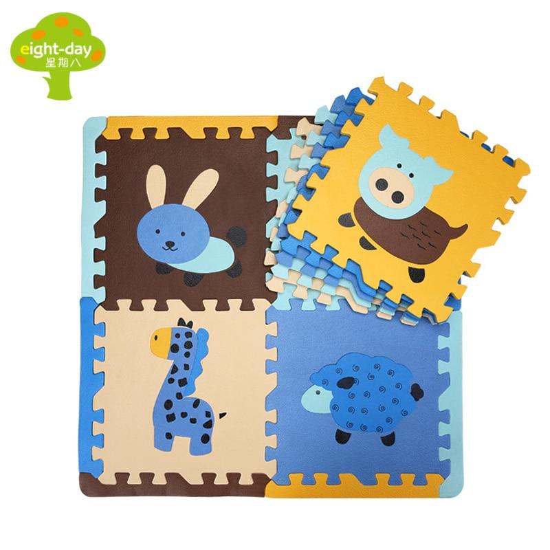 9 Pieces Animals Children s Puzzle font b Mat b font Kids font b Play b