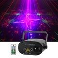 Sharelife 4 линзы Мини 128 RGRB узор лазерный светильник музыка дистанционное управление скорость двигателя DJ Gig вечерние для домашнего шоу сцениче...