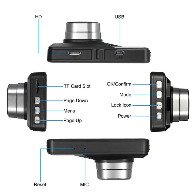 Night Vision / Motion Detection / Loop Recording
