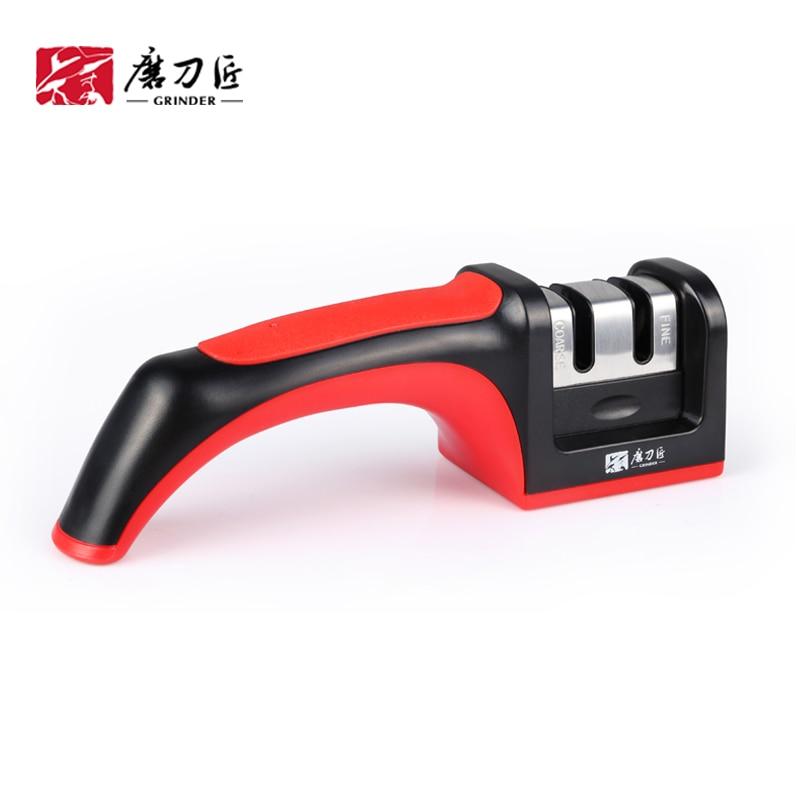 뜨거운 판매 그라인더 나이프 숫돌 2 단계 부엌 선명 도구 amolador 드 faca T1206 Taidea 생산 lanskey