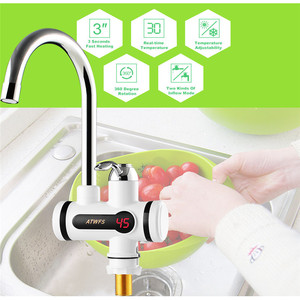 Image 5 - Electric Tankless Hot Water Tap Instant Hot Water Heater Heating Faucet  Instantaneous Water Heater for Kitchen and Bathroom