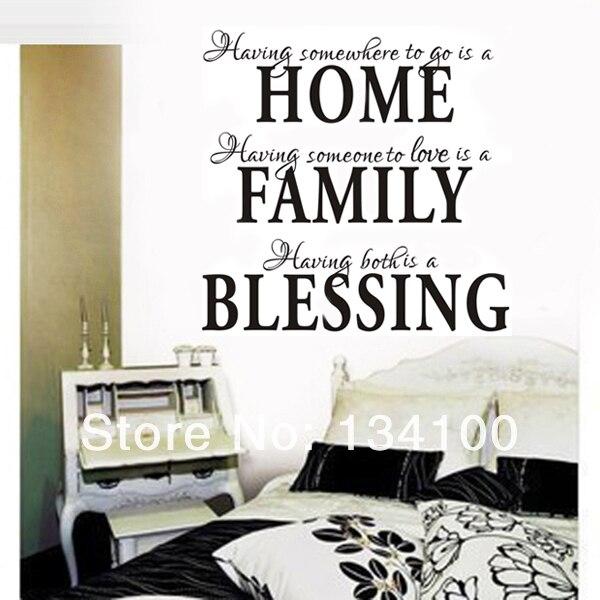 Englisch Beruhmte Zitate Sprichwort Worte Home Familie Segen Hohe Qualitat Vinyl Aufkleber