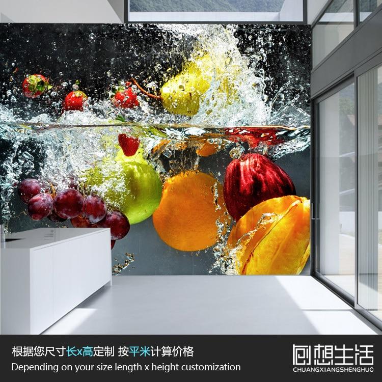Restaurant Kitchen Wallpaper aliexpress : buy fruits vegetables modern garden restaurant