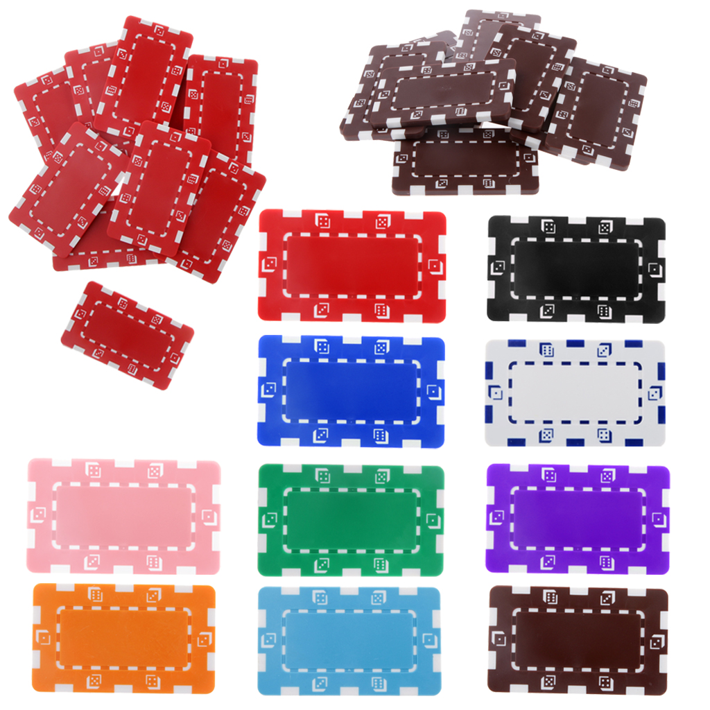 Professional Casino Coins 10pcs Rectangle Ceramic Poker Chips for Mahjong Texas Poker Entertainment Gambing Poker Toy