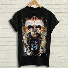 570103d288a Michael Jackson - Dangerous T Shirt Black Tee shirt Dangerous black tees (China)