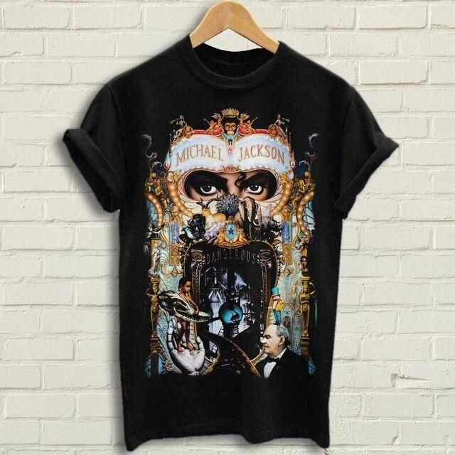 7afdd6535325 Michael Jackson - Dangerous T Shirt Black Tee shirt Dangerous black tees